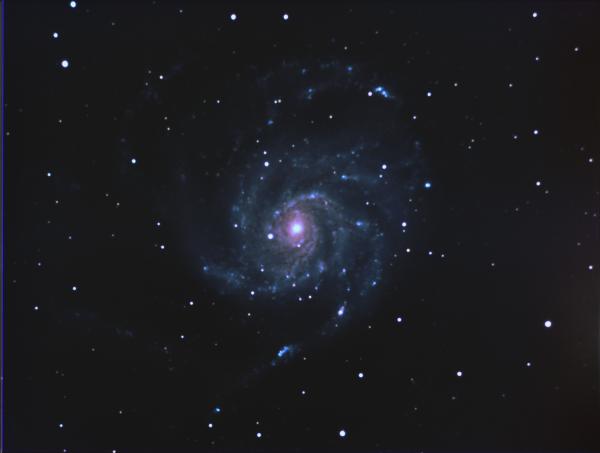 M101 Галактика Вертушка LRGB (Черновик) - астрофотография