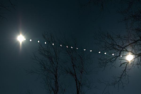 частное солнечное затмение 21.03.15. MULTIX - астрофотография