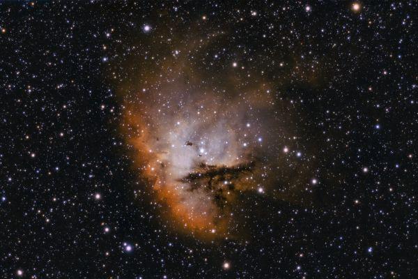 Пакман, биколор - астрофотография