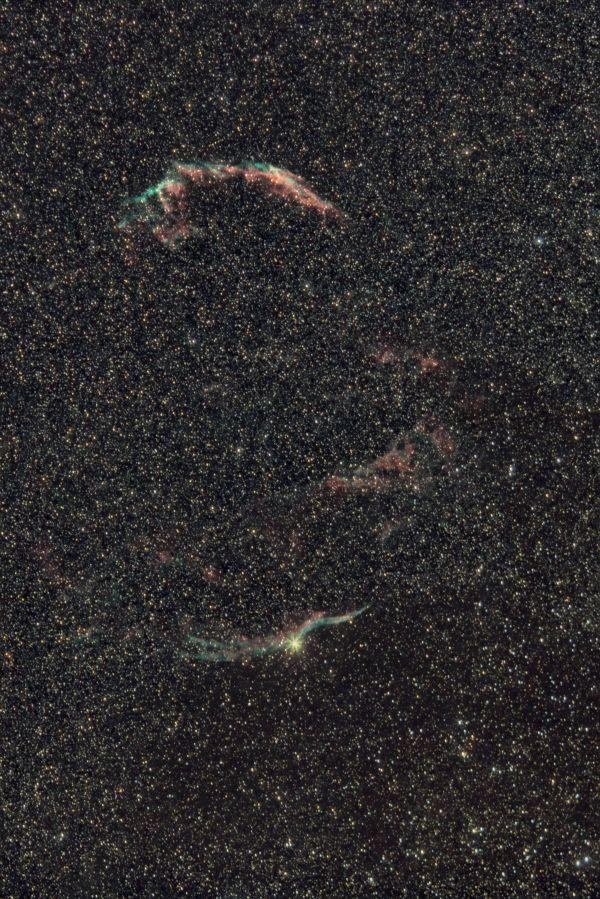 Туманность Вуаль в созвездии Лебедя - астрофотография