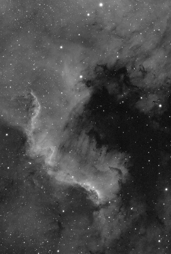 Cygnus Wall, фрагмент NGC 7000 - астрофотография