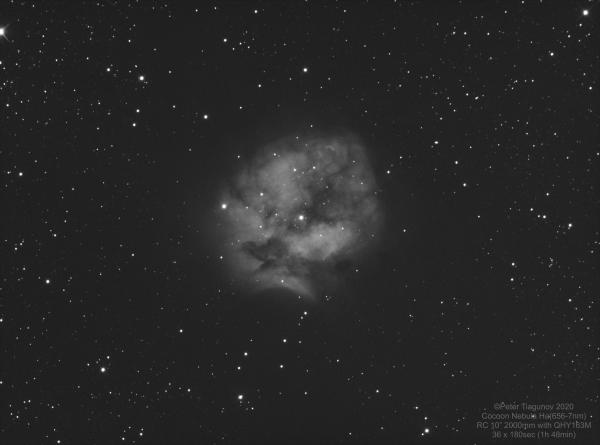 IC 5146 Cocoon Nebula (Ha) - астрофотография