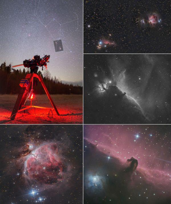 Orion (коллаж из моих фото) - астрофотография