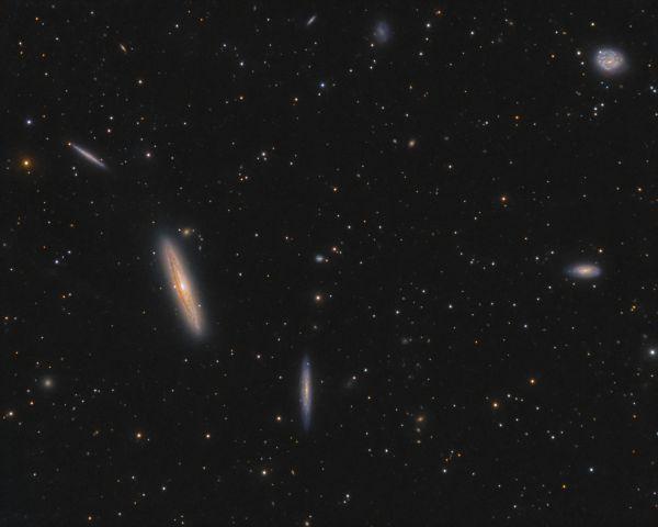 The Silver Streak Galaxy, NGC 4216 and friends - астрофотография