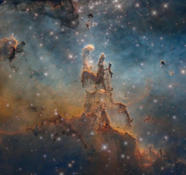 M 16, The Pillars of Creation (HST) - астрофотография