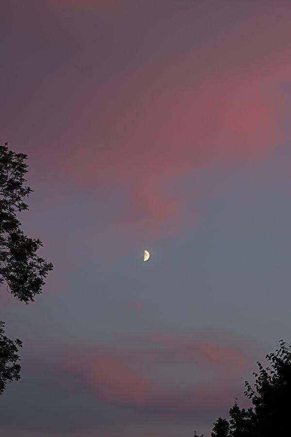Пейзаж -луна 15.08.2021 - астрофотография