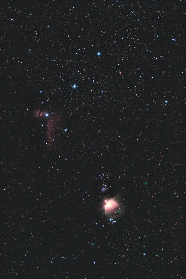 Жемчужины Ориона. Туманность Пламя, Конская голова и Большая туманность Ориона. 10.12.2020 - астрофотография