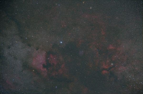 Deneb & Sadr - астрофотография