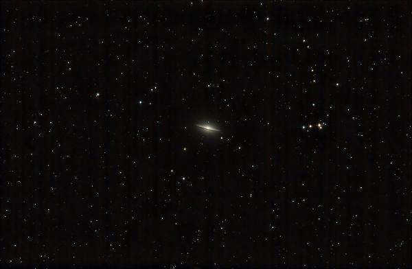 """M104 Галактика """"Сомбреро"""" - астрофотография"""