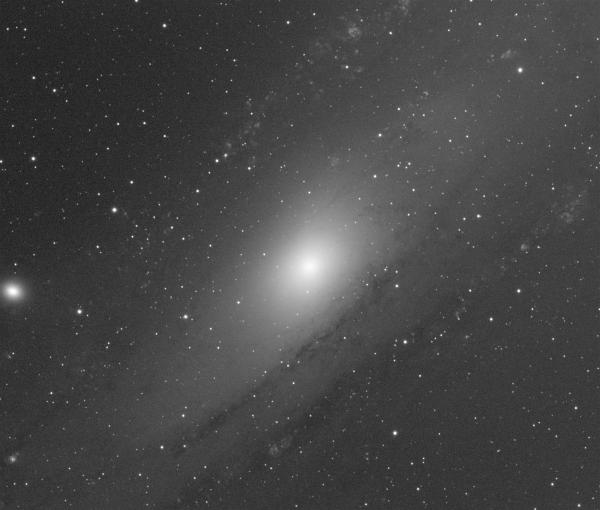 Ядро Галактики Андромеды, М31,  Ha only - астрофотография