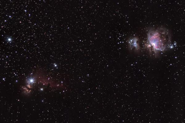 Часть облака Ориона M42/M43/NGC 1977/NGC2024/IC434 - астрофотография