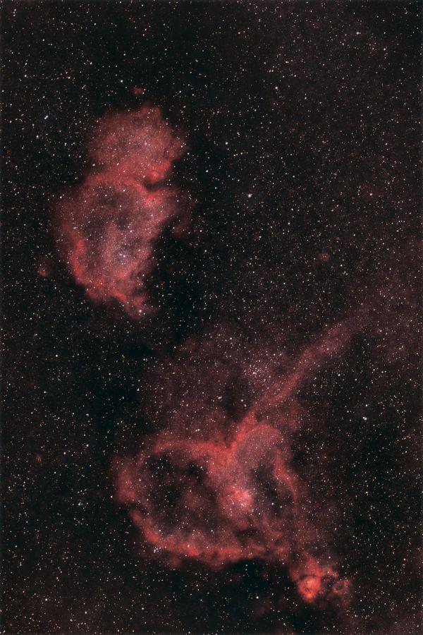 Душа и Сердце Кассиопеи - астрофотография
