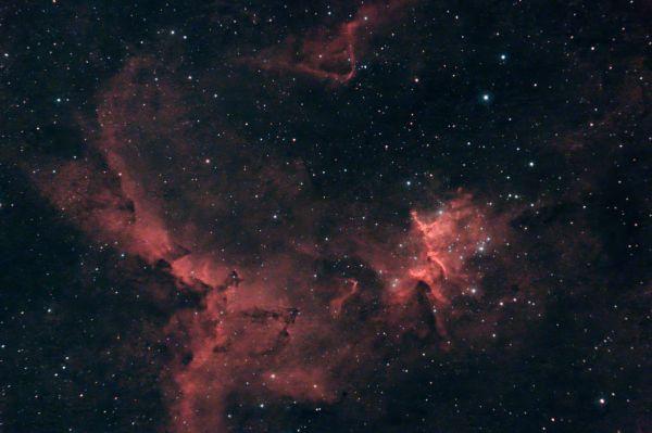 Melotte 15 (центральная часть Сердца IC1805) - астрофотография