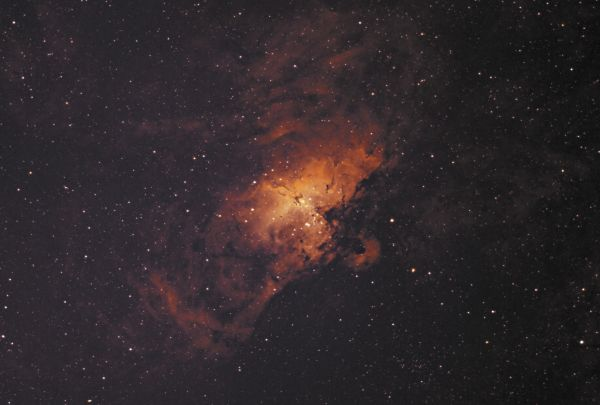 M16 - The Eagle Nebula in Ha/OIII-Bicolour - астрофотография