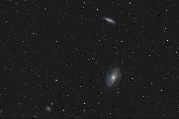 Bode's & Cigar Galaxy - M81, M82  - астрофотография