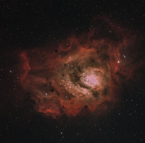 Туманность Лагуна (Тестирование фильтра Optolong l-eXtreme) - астрофотография