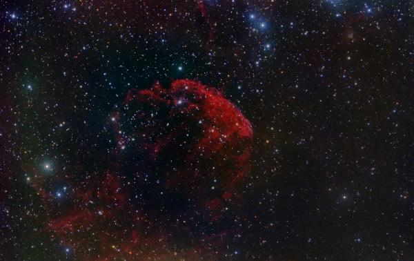 """Туманность IC 443, """"Медуза"""" - астрофотография"""