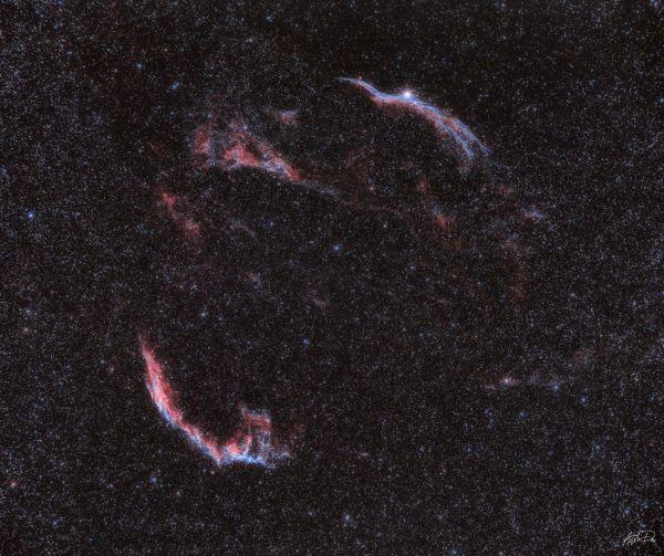 The Veil nebula - астрофотография