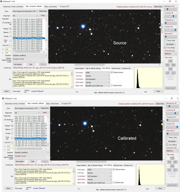 PGMania - astrophotography  software for deep sky image processing - астрофотография