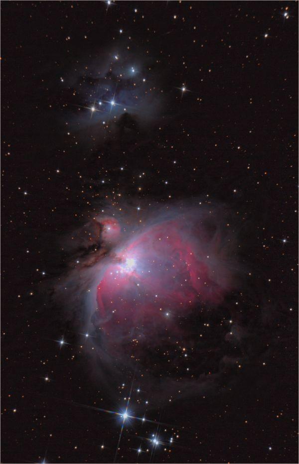 """М42 и туманность """"Бегущий человек"""".  - астрофотография"""