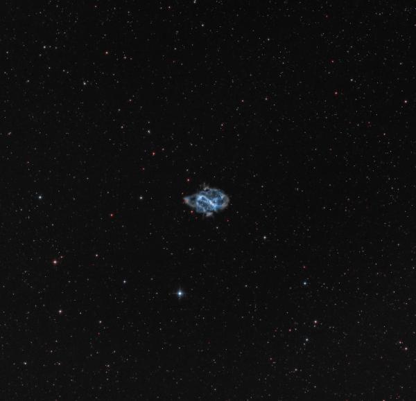 NGC 5189 - Спиральная планетарная туманность в созвездии Муха - астрофотография