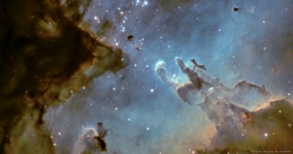 Фрагмент M16 - астрофотография