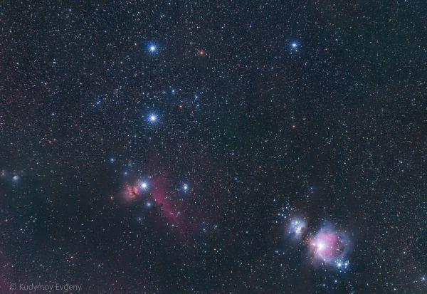 Созвездие Ориона  - астрофотография