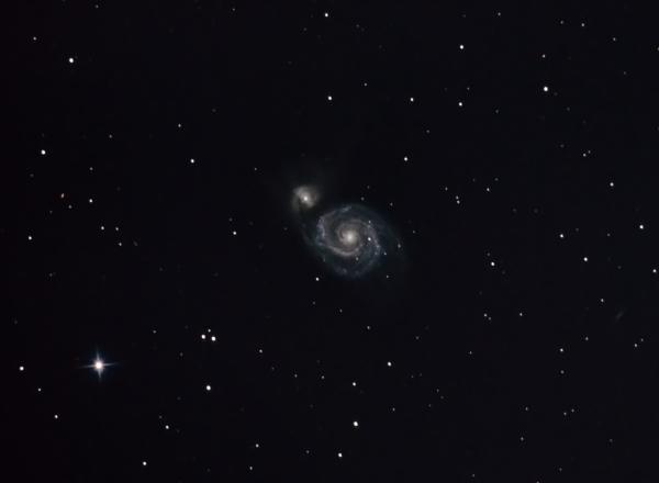 M51 (NGC 5194 & NGC 5195) + 40 min - астрофотография