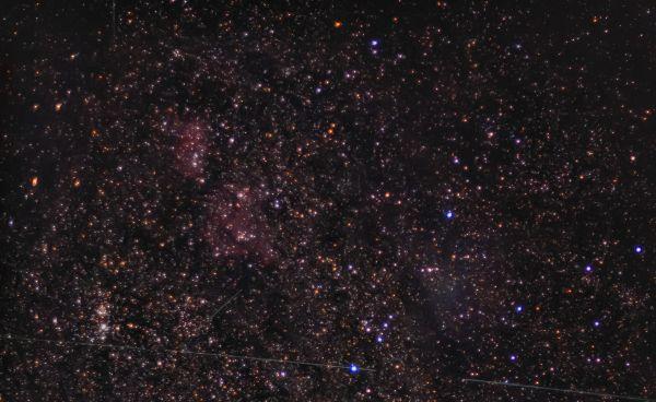 Region around Heart and Soul nebulas - астрофотография