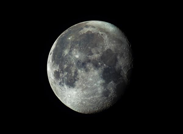Луна 27.03.2021 в 02:56. Освещенность 88,8% - астрофотография