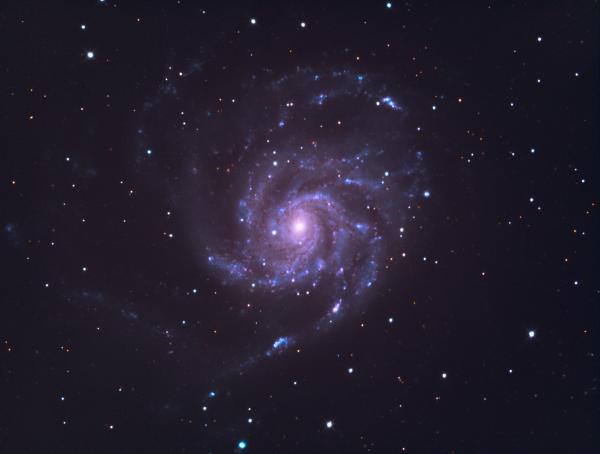 M101 The Pinwheel Galaxy (LRGB) - астрофотография