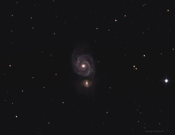 Галактика Водоворот - M51 - астрофотография