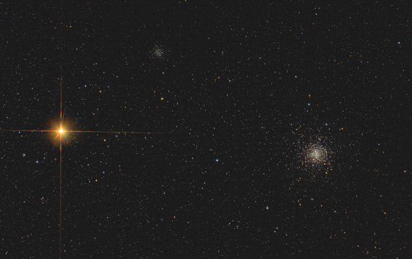 Globular clusters M4 & NGC6144 & Antares - астрофотография