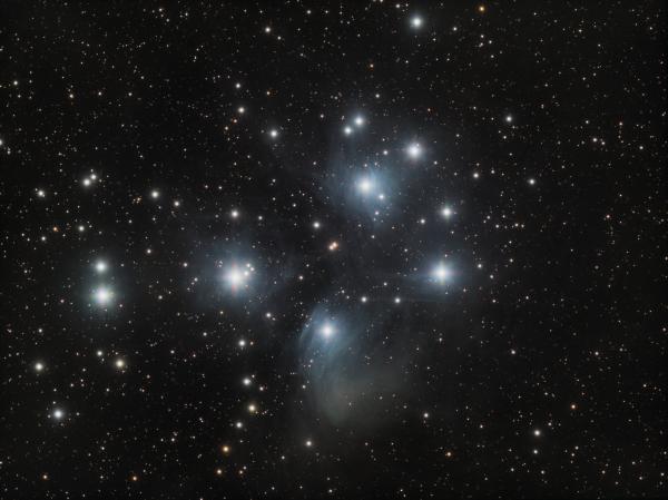 M 45 Pleyads RGB - астрофотография