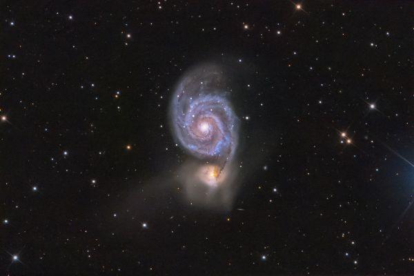 Галактика Водоворот (М 51) - астрофотография