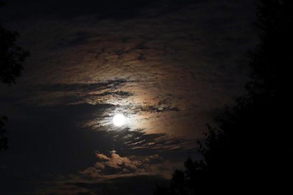 Луна и сатурн 21.08.2021 - астрофотография