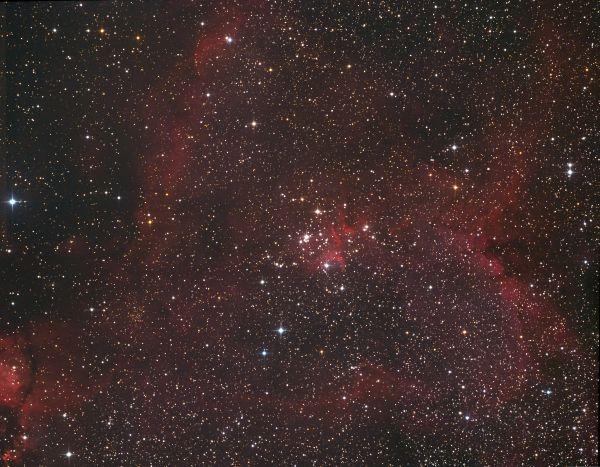 IC1805. 2x2 mosaic. after first night - астрофотография