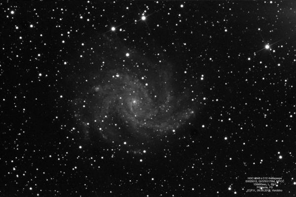 NGC 6946 / C12 Фейерверк - астрофотография