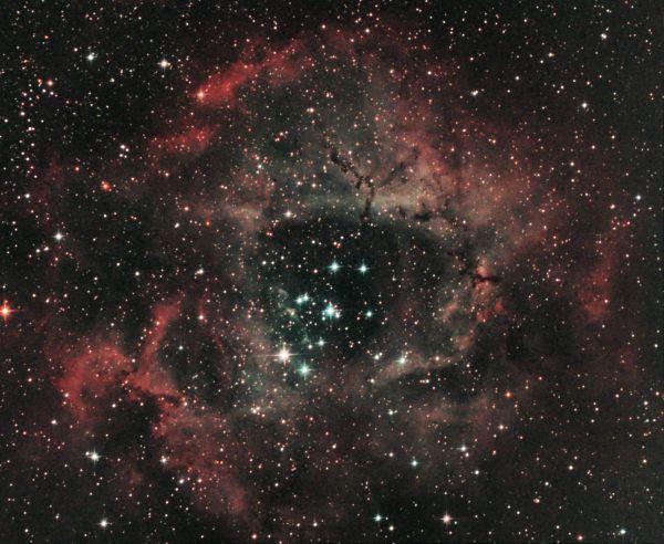 NGC 2237 - Rosette nebula - астрофотография