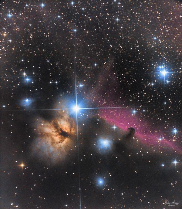 Horsehead nebula & Flame nebula - астрофотография