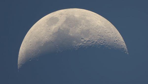 Луна вечером 12-09-2021 - астрофотография