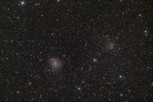 """NGC 6946 (""""Галактика Фейерверк"""") и NGC 6939 - астрофотография"""