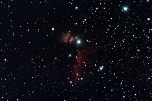 IC434 Horsehead & NGC2024 Flame nebulas - астрофотография