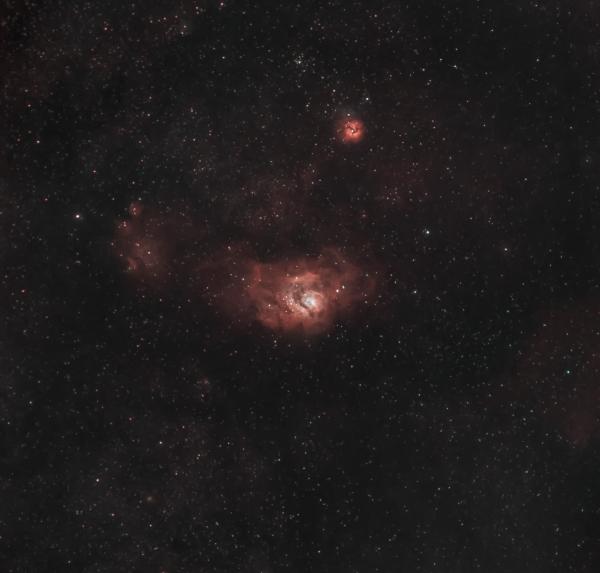 Lagoon & Trifid Nebula's - астрофотография