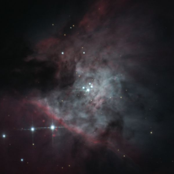 Trapezium cluster, M42 - астрофотография