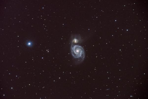 M51 - Whirlpool galaxy - астрофотография