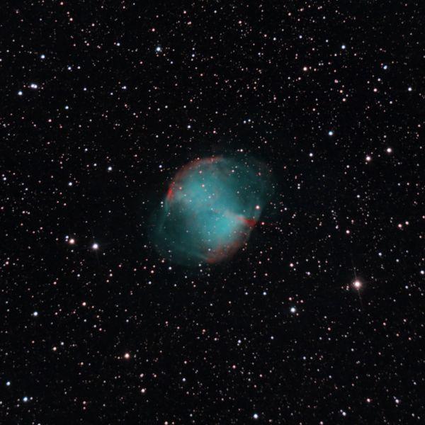 M27 Dumbbell nebula - астрофотография