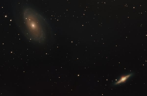 M81, M82. Галактика Бодэ и Сигара - астрофотография