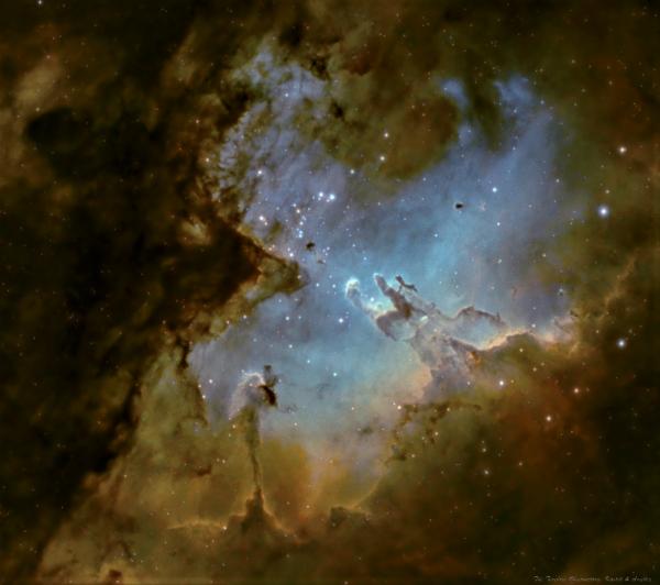 M16, SHO palette - астрофотография