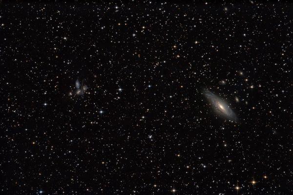 NGC 7331 и Квинтет Стефана - астрофотография